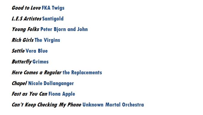sophs playlist