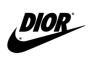 'Dior' on Nike logo, REILLY